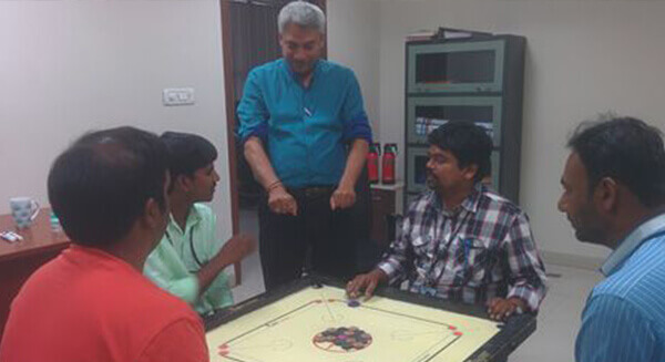 Carrom competition at Revalsys