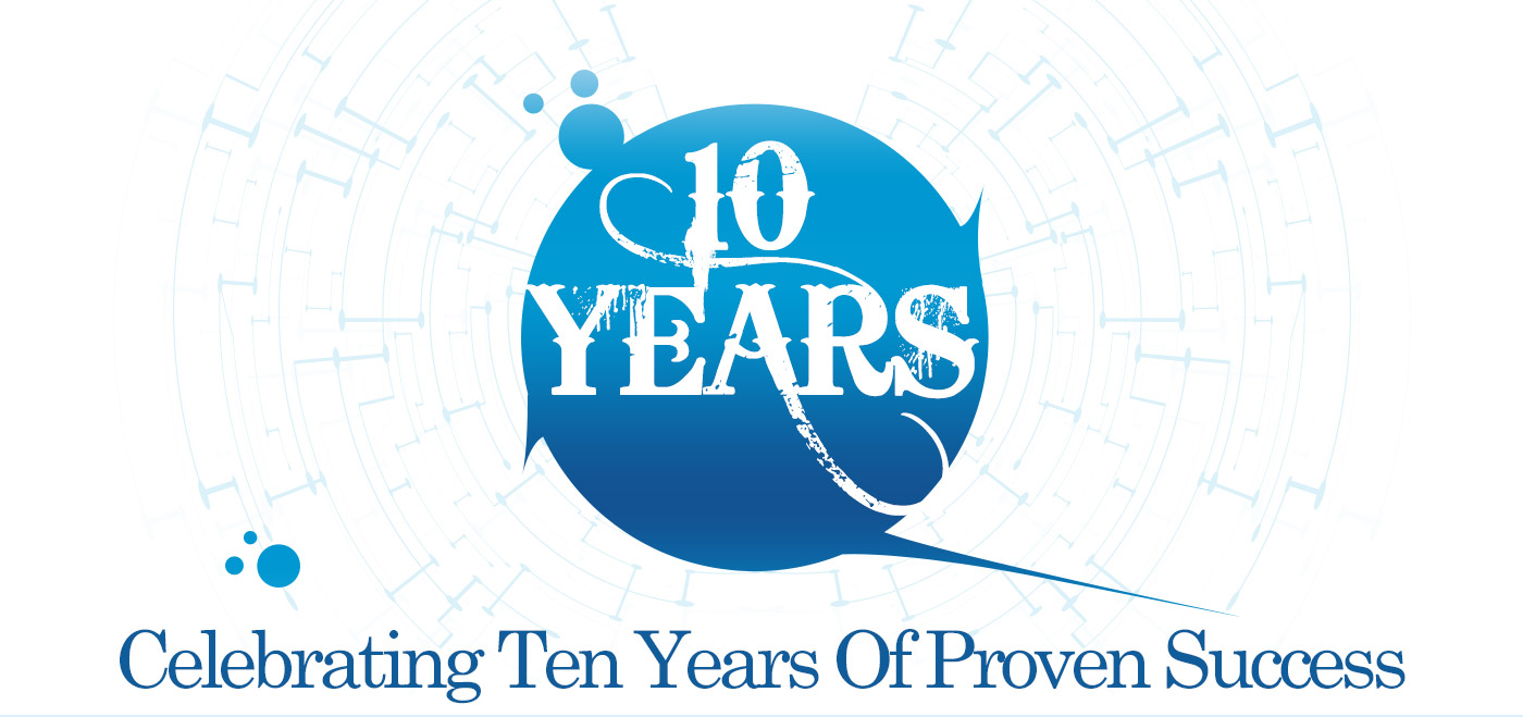 Celebrating 10 years of proven success in design & development services